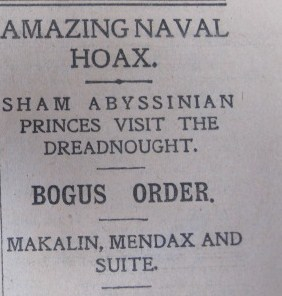 Dreadnought Hoax Daily Express February 12 1910