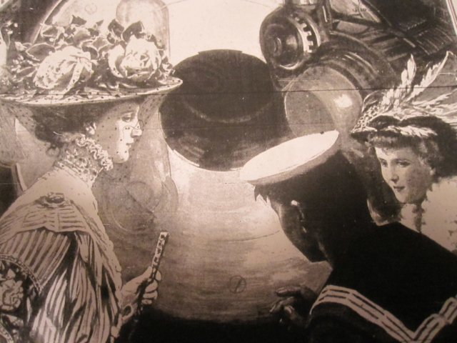 Ladies Examining the Big Guns of the Dreadnought