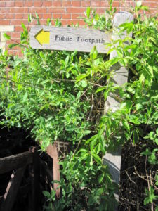 Sign of Sussex Footpath